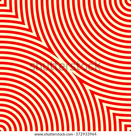 Pattern with symmetric geometric ornament. Red white abstract background. Vector illustration - stock vector
