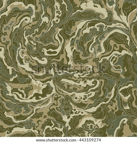 pattern with the image texture of smoke khakis, brown and gray shades - stock vector