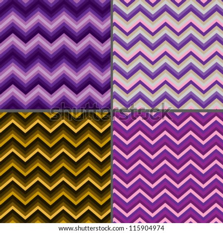 Pattern zigzag - stock vector