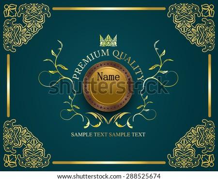 patterned design restaurant menu of premium quality / certificate template - stock vector