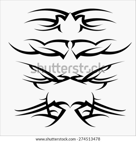 Tribal Tattoo Wings Stock Photos, Images, & Pictures ...