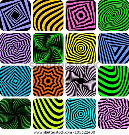 Patterns set. Design elements. Vector art. - stock vector
