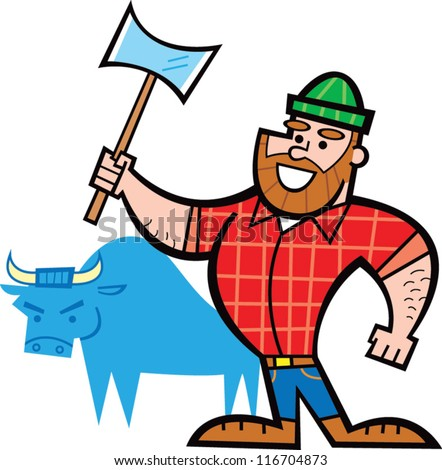 paul bunyan stock photo photo vector illustration 116704873 rh shutterstock com  paul bunyan and babe clipart