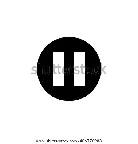 Pause icon - stock vector