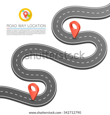 Paved path on the road. Vector background - stock vector
