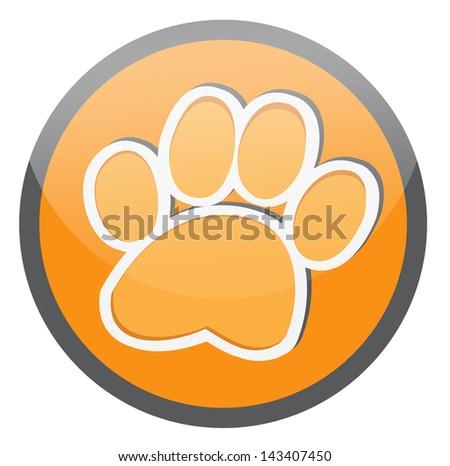 paw, animal paw vector - stock vector
