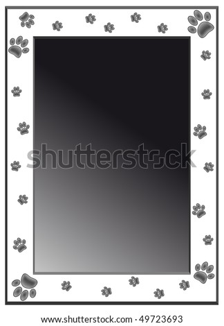 Paw frame - stock vector
