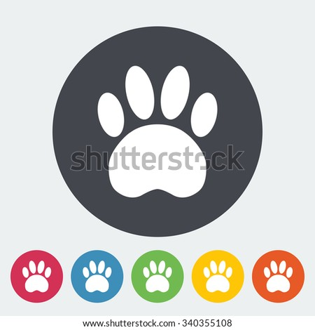 Paw icon. Flat vector related icon for web and mobile applications. It can be used as - logo, pictogram, icon, infographic element. Vector Illustration.  - stock vector