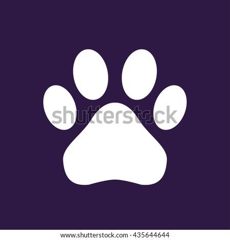 Paw icon . Vector illustration - stock vector