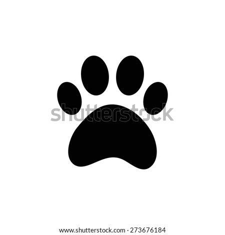 paw of dog - stock vector