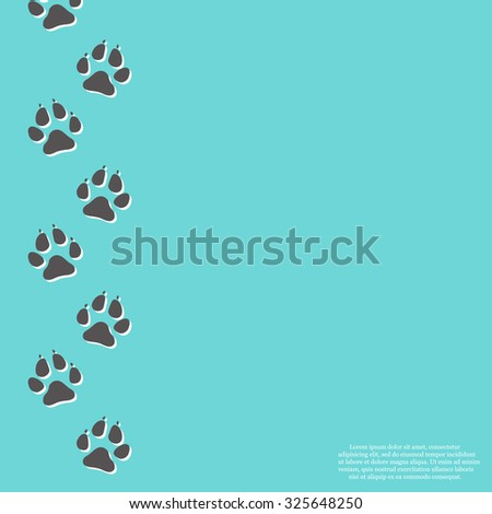Paw Print Background - stock vector