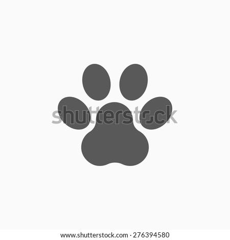 paw print icon - stock vector