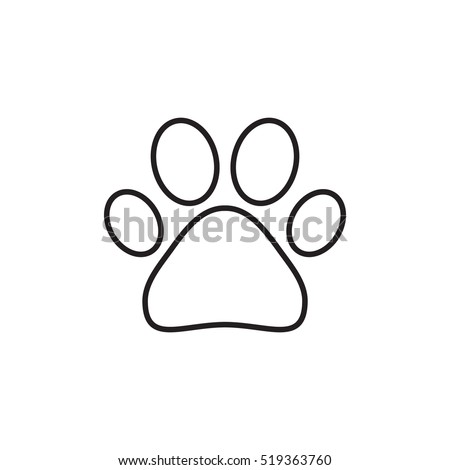 Wolf Paw Print Embroidery Design