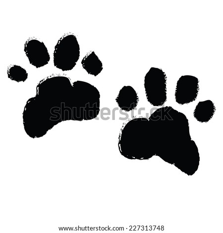paw print. vector illustration - stock vector