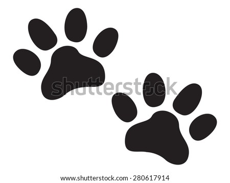 Paw prints backgrounds - stock vector