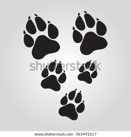 Red dog paw logo - photo#33