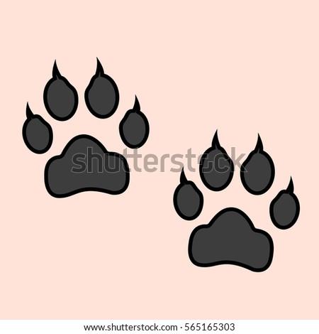 Red dog paw logo - photo#41