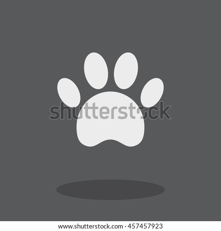 Paw vector icon.