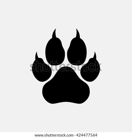 Paw, web icon. - stock vector