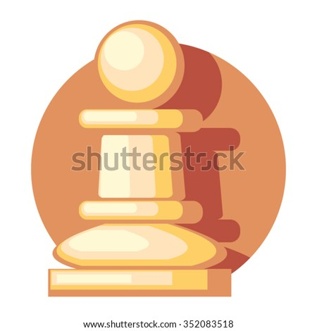 pawn figure icon with shadow - stock vector