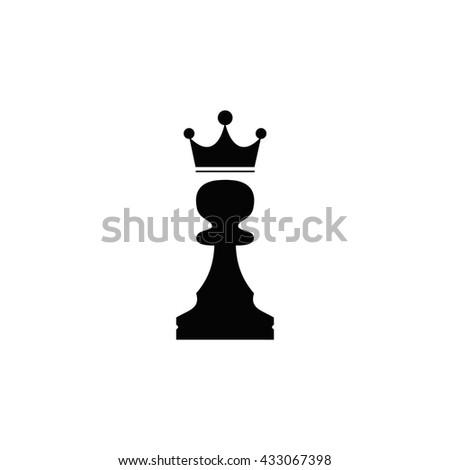 pawn with a crown  Icon,pawn with a crown Icon Vector, pawn with a crown Icon Sign, pawn with a crown Icon App, pawn with a crown Icon Logo, pawn with a crown Icon EPS  - stock vector