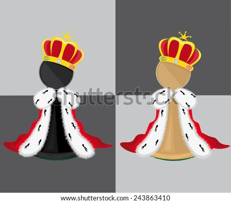 Pawn with crown - stock vector
