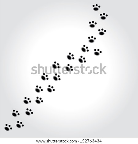 paws dog animal. prints background . vector illustration - stock vector