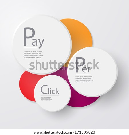 Pay Per Click - stock vector