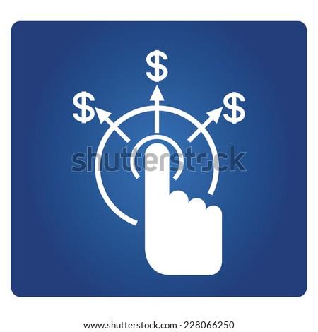 pay per click  - stock vector