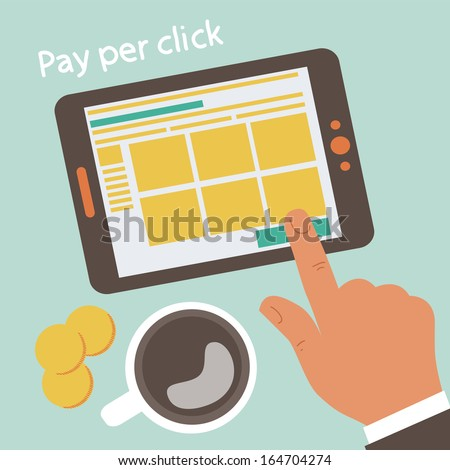 Pay per click concept illustration  - stock vector