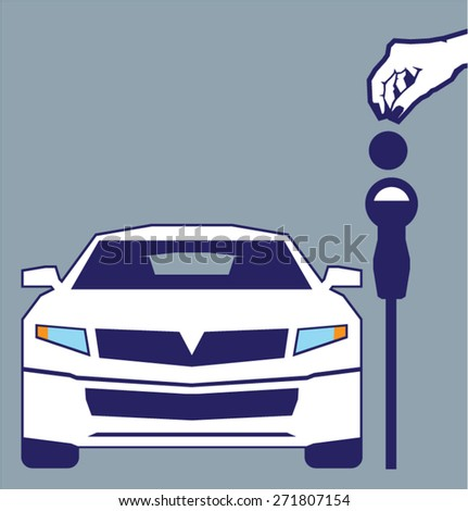 Pay To Park Here - stock vector