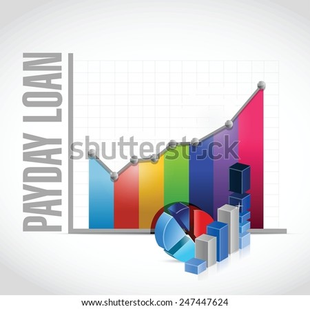 payday loan business graph illustration design over a white background