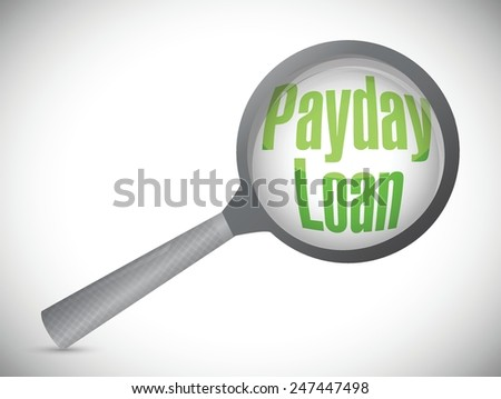 payday loan review illustration design over a white background - stock vector