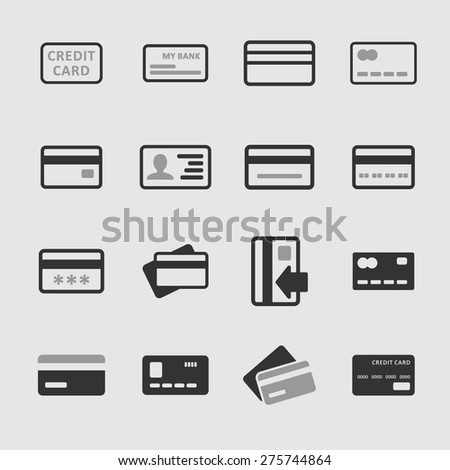 Paying icons - stock vector