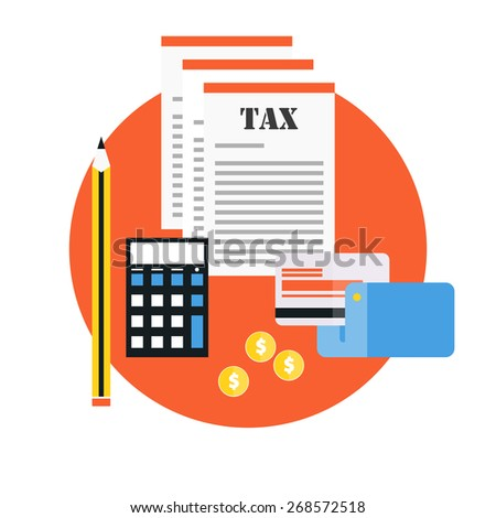 Paying tax - stock vector
