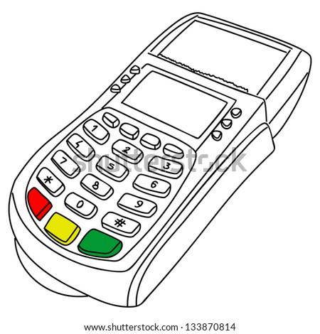 payment terminal - stock vector