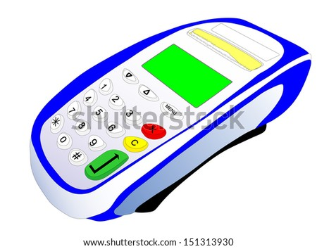 payment terminal vector isolated on white background. - stock vector