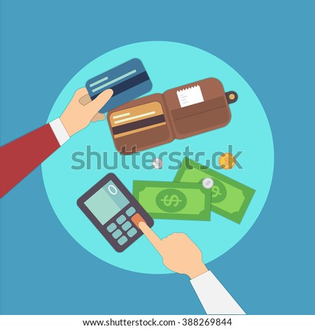 payments vector illustration. Overhead. colorful set. eps 10 - stock vector