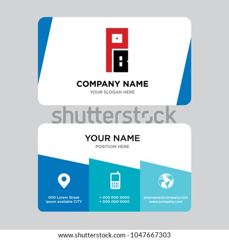 Pb bp business card design template stock vector hd royalty free pb or bp business card design template visiting for your company modern creative and colourmoves