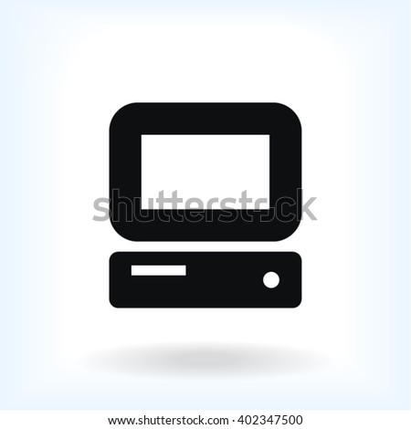 PC Icon - stock vector