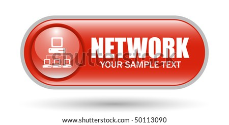 PC Network sign Icon with Copyspace - stock vector