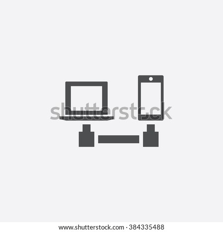 pc phone connect Icon. pc phone connect Icon Vector. pc phone connect Icon Art. pc phone connect Icon eps. pc phone connect Icon Image. pc phone connect Icon logo. pc phone connect Icon Sign - stock vector