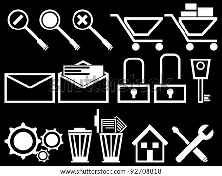 PC SET ICONS 2 - stock vector