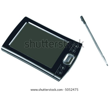 PDA and Pen on White background (vector) - stock vector