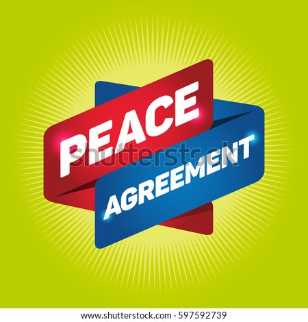 Peace Agreement Arrow Tag Sign Stock Vector 597592739 Shutterstock