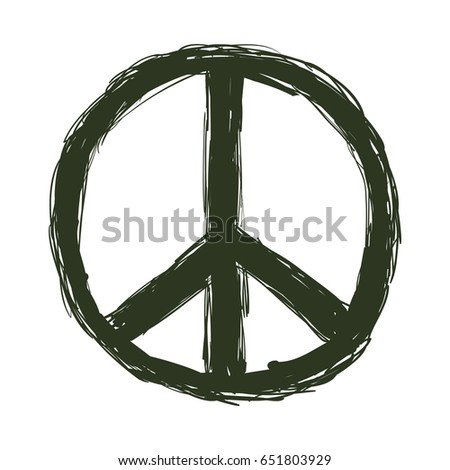 Peace Love Symbol Stock Vector 2018 651803929 Shutterstock
