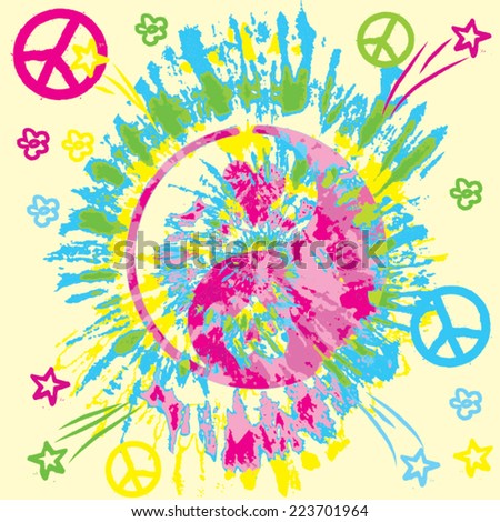 peace background - stock vector