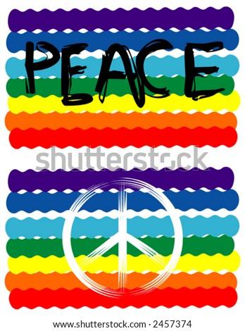 Peace Flag, Peace Sign - stock vector