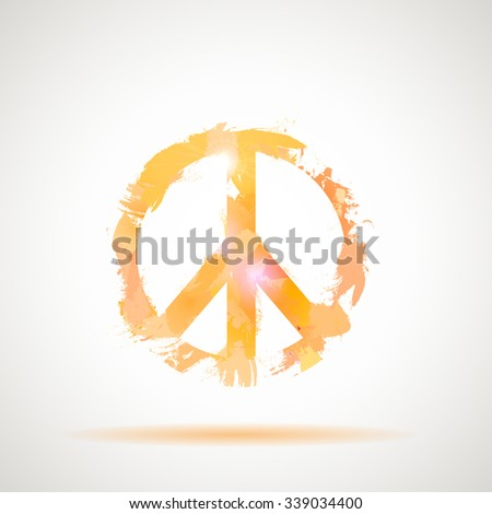 Peace Hippie Symbol. Freedom, spirituality, occultism art.  - stock vector