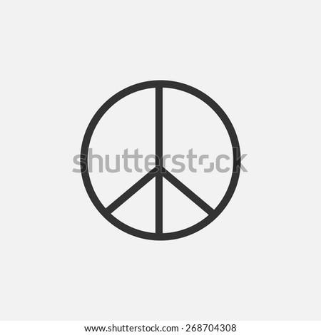 peace icon - stock vector